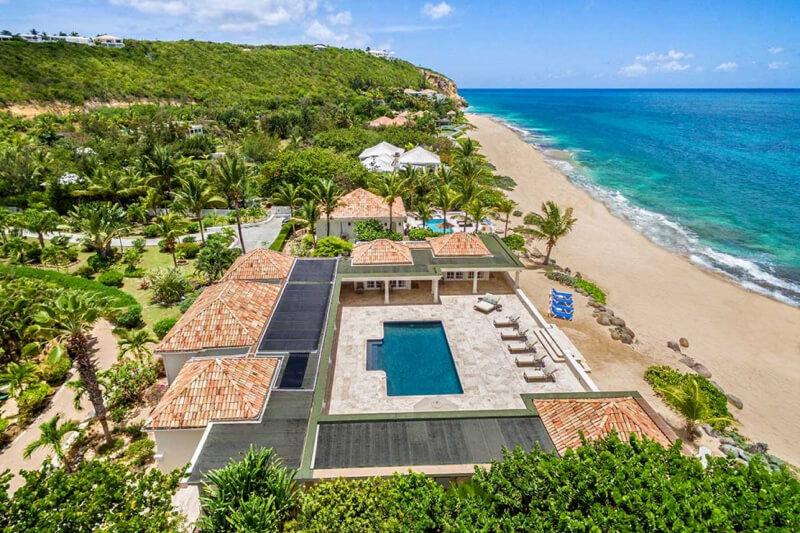 beachfront villa Beau Rivage, St Martin