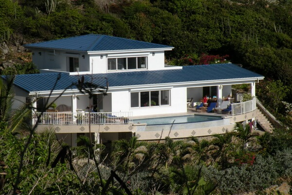 Alexandra a five bedroom villa located in Dawn Beach Estates. overlooking Dawn Beach