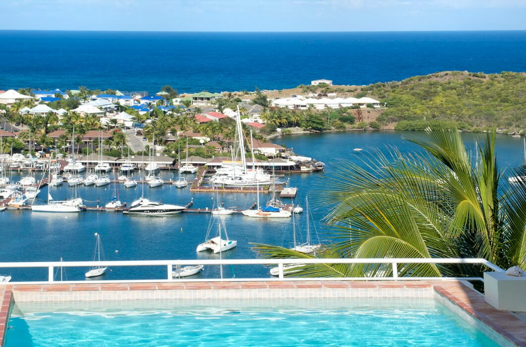 Villa Angelina - formely known as Selah - a 3 bedroom 2 1/2 bathroom villa located in Oyster Pond on the hillside on the Dutch side of St. Maarten, with great views of Dawn Beach and the Atlantic Ocean