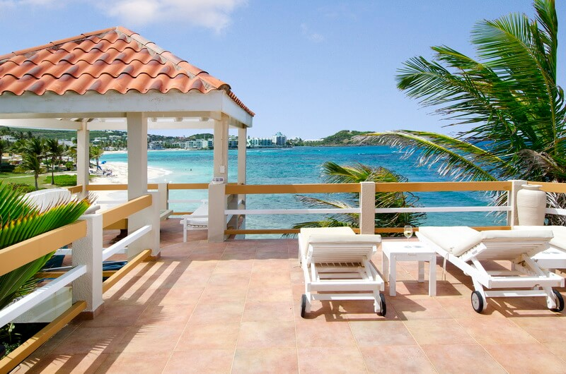 Villa Bell'Mare, Dawn Beach Estate, St. Maarten, beach front overlooking Dawn Beach