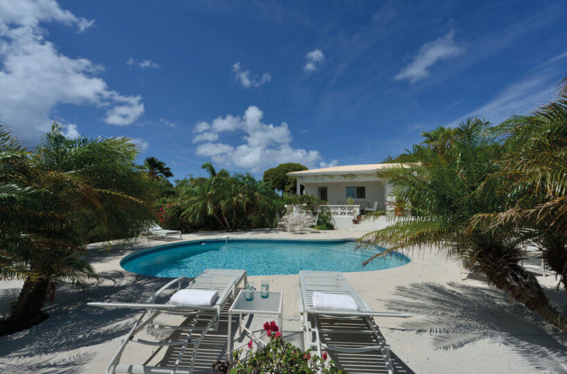 Cliff side villa Falaise Des Oiseaux located in Terres BAsse with fabulous views over to Anguilla and the coastline of St. Martin.