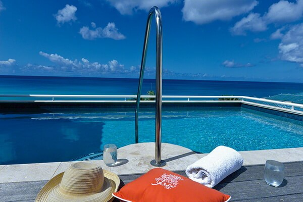 Beautiful oceanviews from Villa Luna, St Maarten
