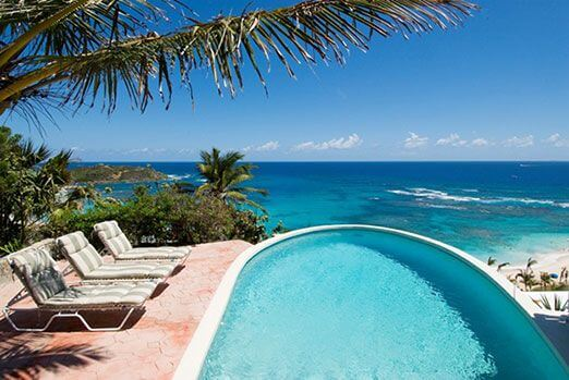 villa Sea Haven a 3 bedroom, 3 bath villa is located in the prestigious Oyster Pond hillside with stunning views of Dawn Beach and St. Barth