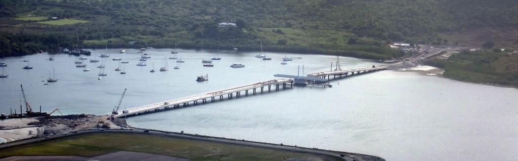 panoramic view of the Simpson Bay Causeway bridge St Maarten
