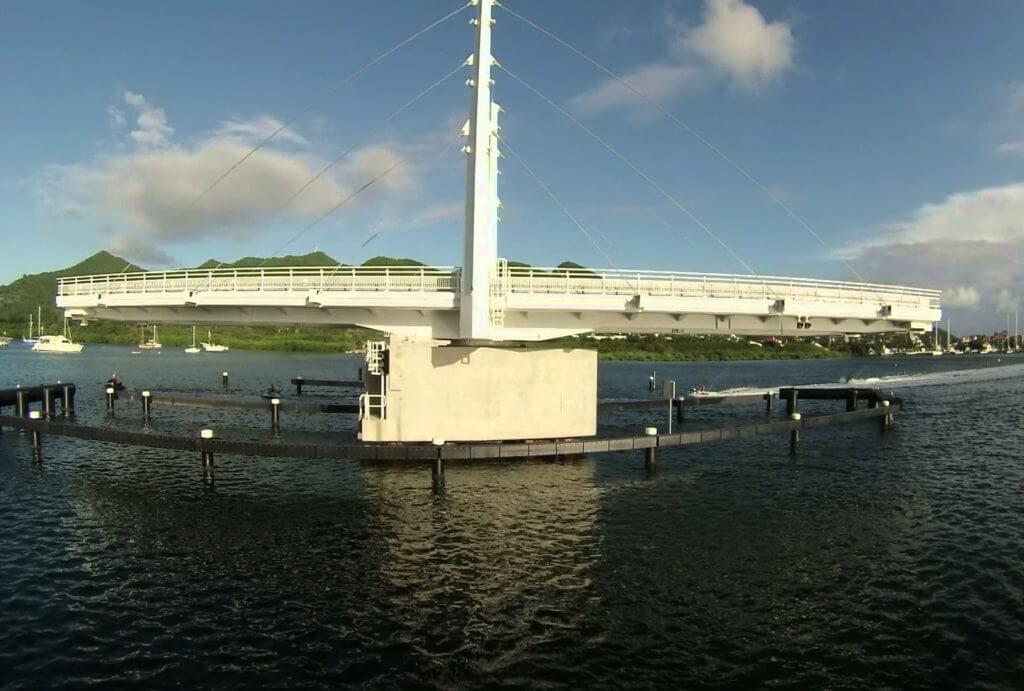The Simpson Bay Causeway bridge St Maarten