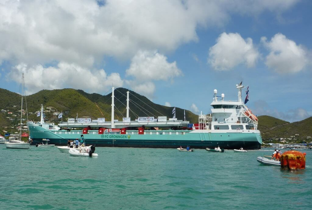 The Simpson Bay Causeway bridge St Maarten delivered by our client