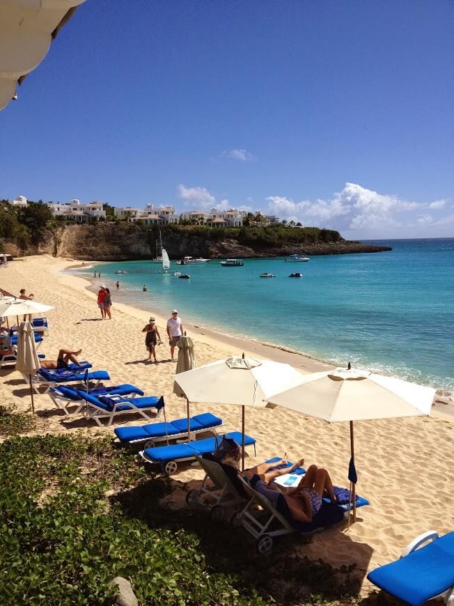 Sun and beach in St Maarten