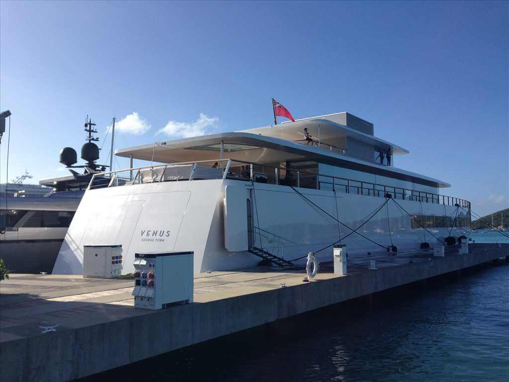 Venus, moored at St Maarten, Dutch Carribean