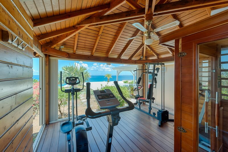 outdoor view from gym Villa Dreamin Blue