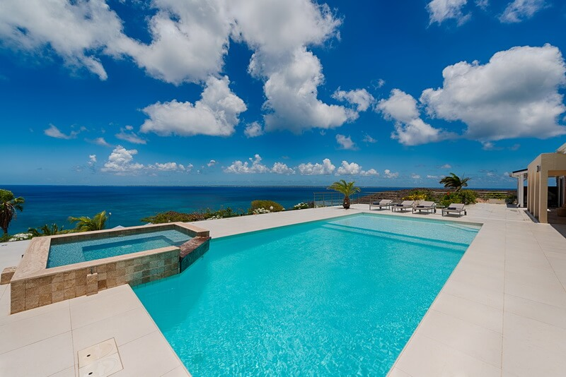 View of the ocean Villa Dreamin Blue