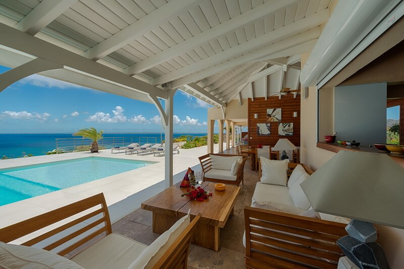 French St Martin Happy Bay Ocean Views Dream In Blue