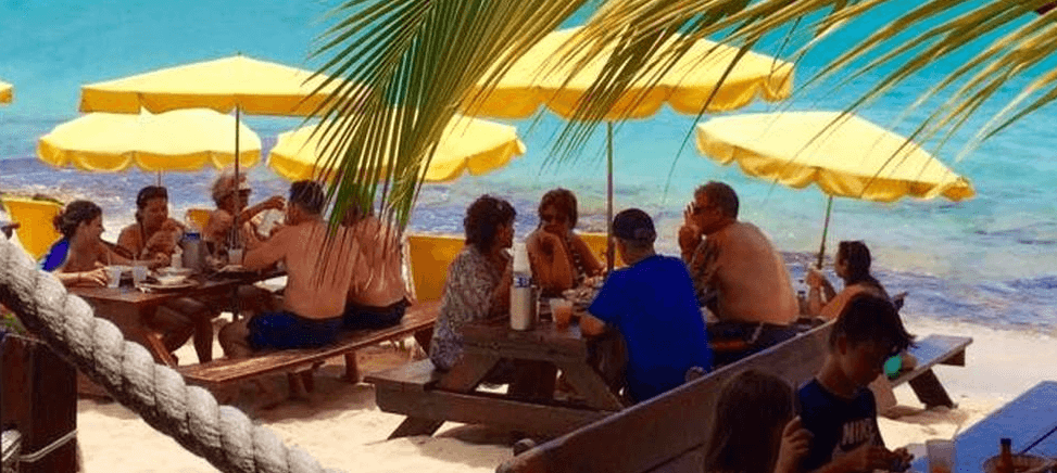 Calmos Café is a must-try when visiting Grand Case Beach on French St. Martin