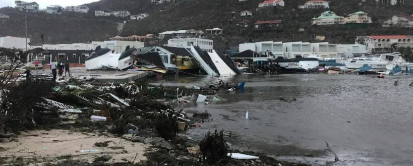 Oyster pond post hurricane irma