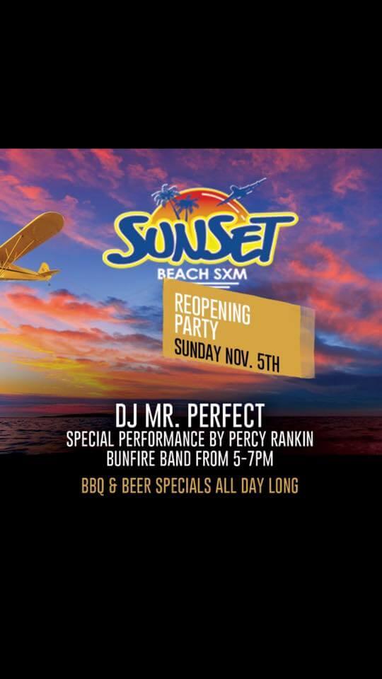 Sunset Beach bar in St Maarten reopens