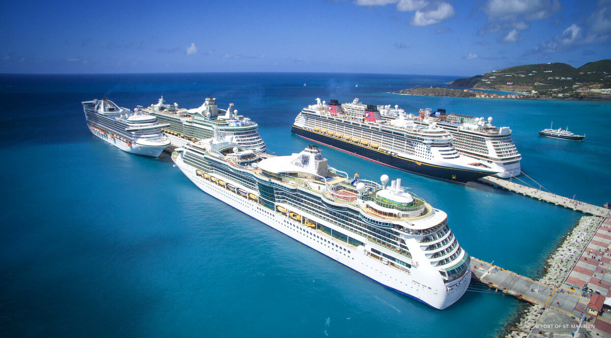 Awesome Cruise Ships At The Port Of St Maarten