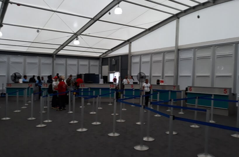 Temporary departure area SXM airport